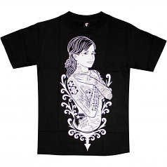 Famous Stars and Straps Shes famous T-shirt Black