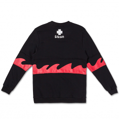 Pink Dolphin Waves Sweatshirt Black