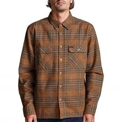 Brixton Archie Flannel L/S Shirt Brown
