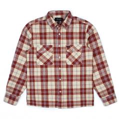 Brixton Archie Long Sleeve Flannel Shirt Brick