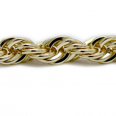 Old School Gold Hip Hop Rope Chain 10 by 30 inch