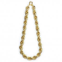 XL Gold Plated Hip Hop Rope Chain Dookie 20mm x 24