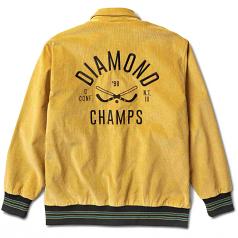 Diamond Supply Co Corduroy Stadium Jacket Gold