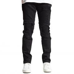 Embellish Julie Biker Denim Jeans in Black