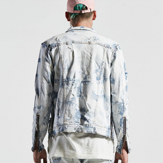 Embellish Phantom Denim Jacket in Bleach Acid