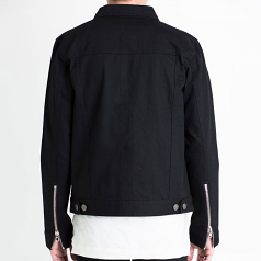 Embellish Phantom Denim Jacket in Black