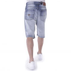 Pelle Pelle Buster Baggy Denim Shorts White Washed