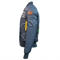 Top Gun MA-1 Lady Luck Reversible Bomber Jacket Navy Black