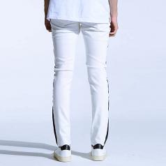 Embellish Bolt Standard Denim Jeans White Black