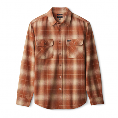 Brixton Bowery Flannel Long Sleeve Shirt Copper