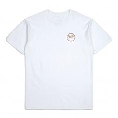 Brixton Wheeler II T-Shirt White Bronze