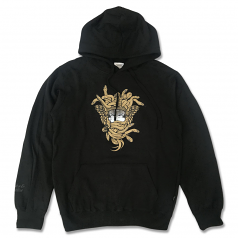 Crooks & Castles Gold OG Medusa Pullover Hoodie Black