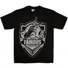 Famous Stars & Straps JS Family First Sheild T-Shirt - Black/Grey