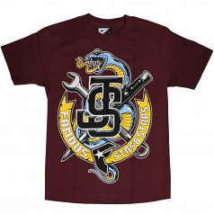 Famous Stars & Straps Twitch Squeeze T-shirt Burgundy