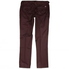 Dickies C182 Slim Fit Chino Trousers Burgundy
