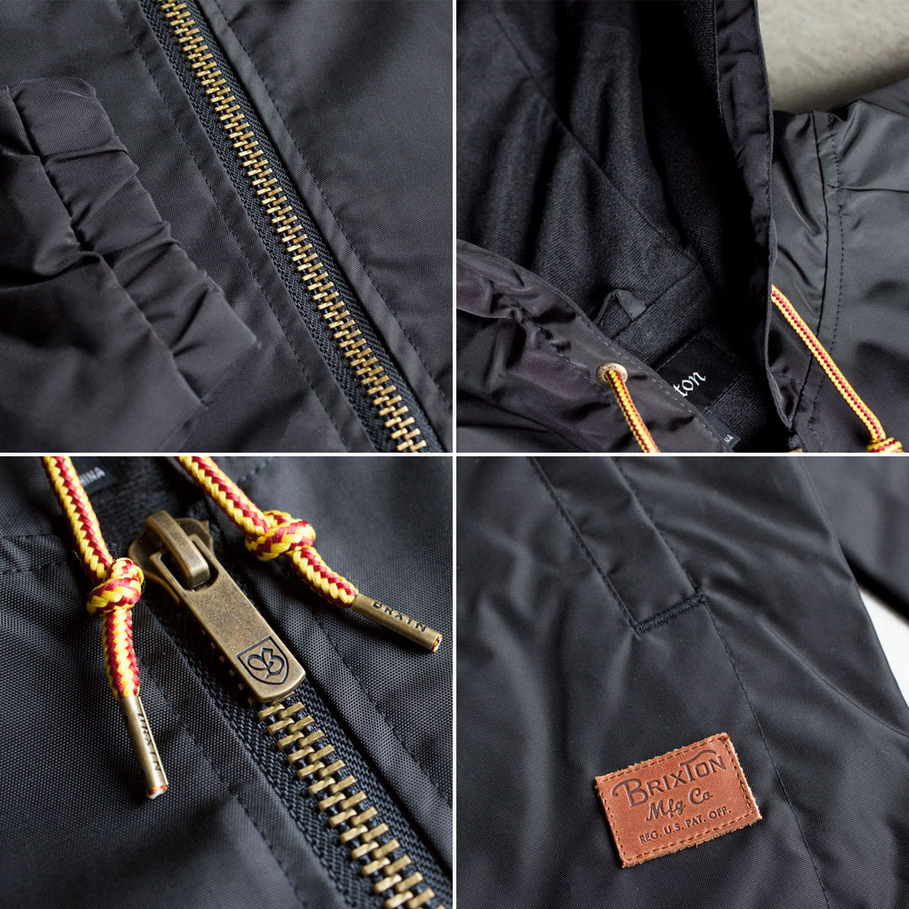 Brixton Claxton Windbreaker Jacket Black