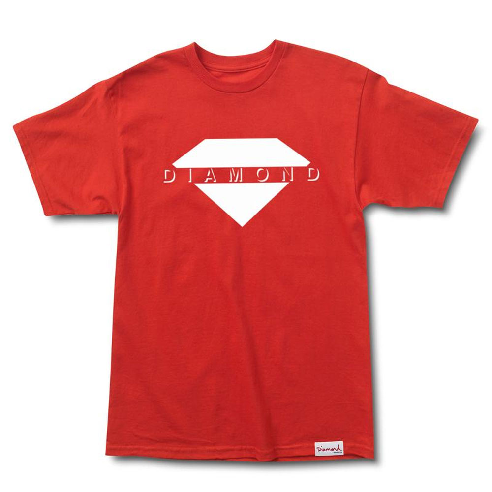 Diamond Supply Co Viewpoint T-shirt Red