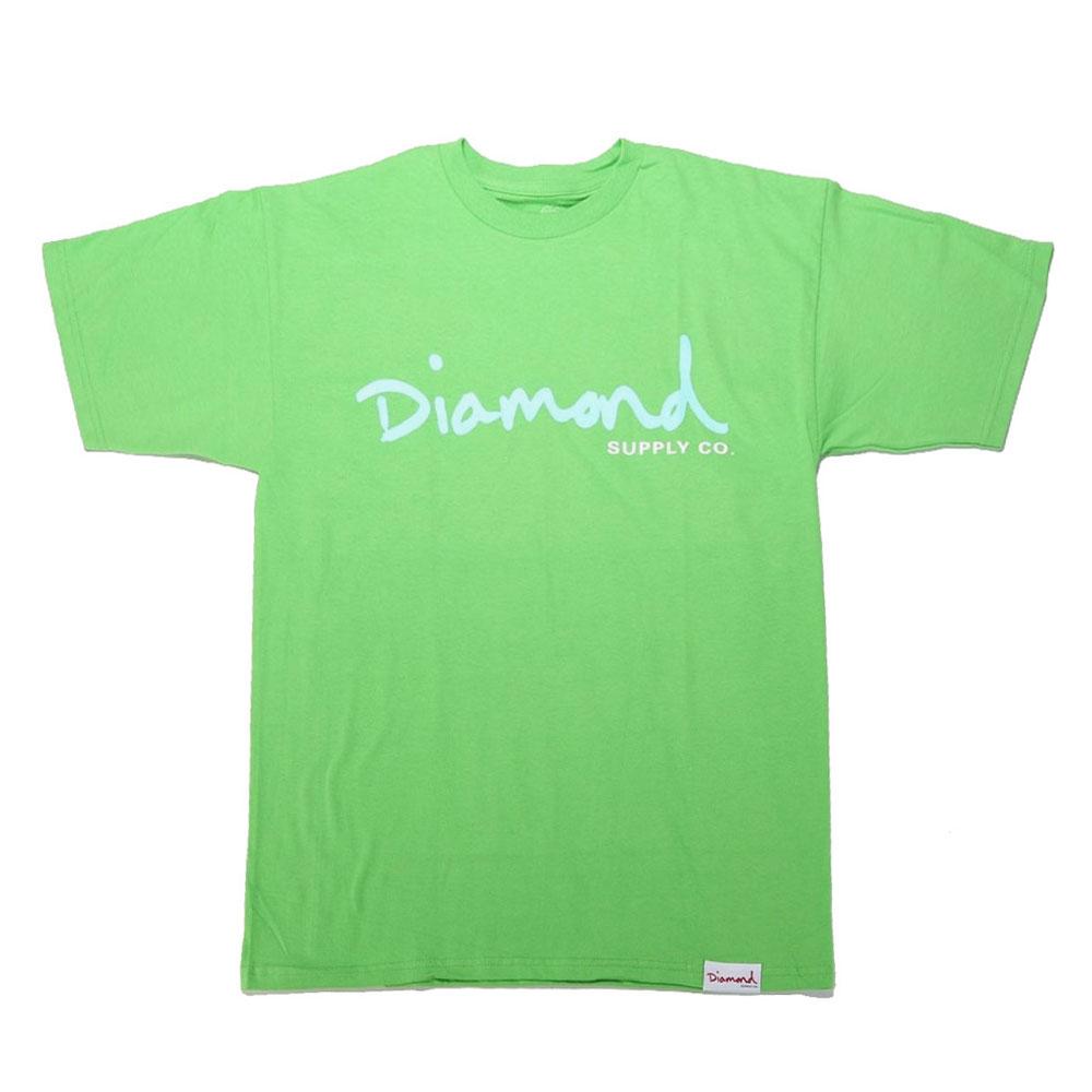 Diamond Supply Co Og Script T-shirt Lime Green