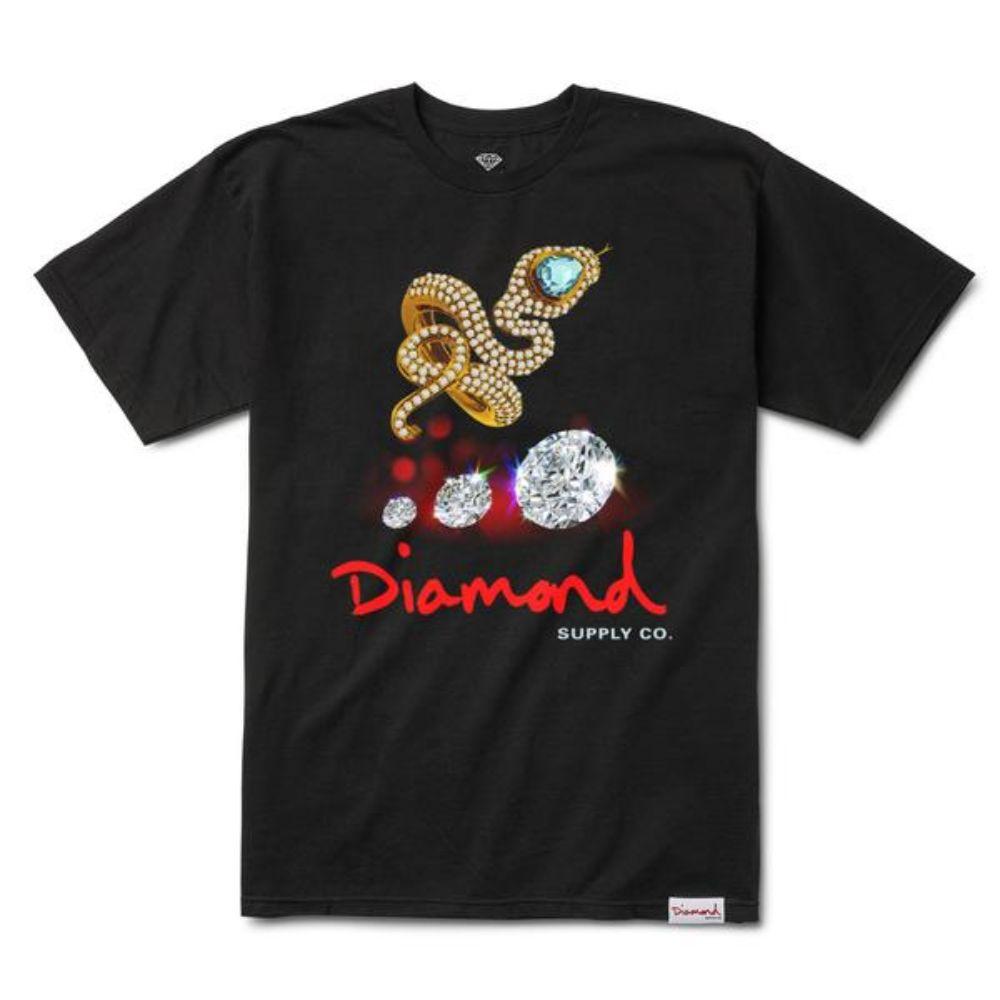 Diamond Supply Co Snake S/S T-shirt Black