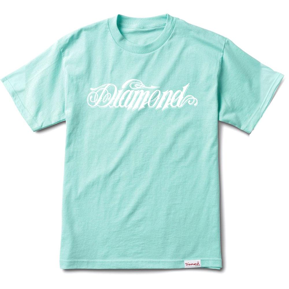 Diamond Supply Co Diamond Giant Script T-shirt Diamond Blue