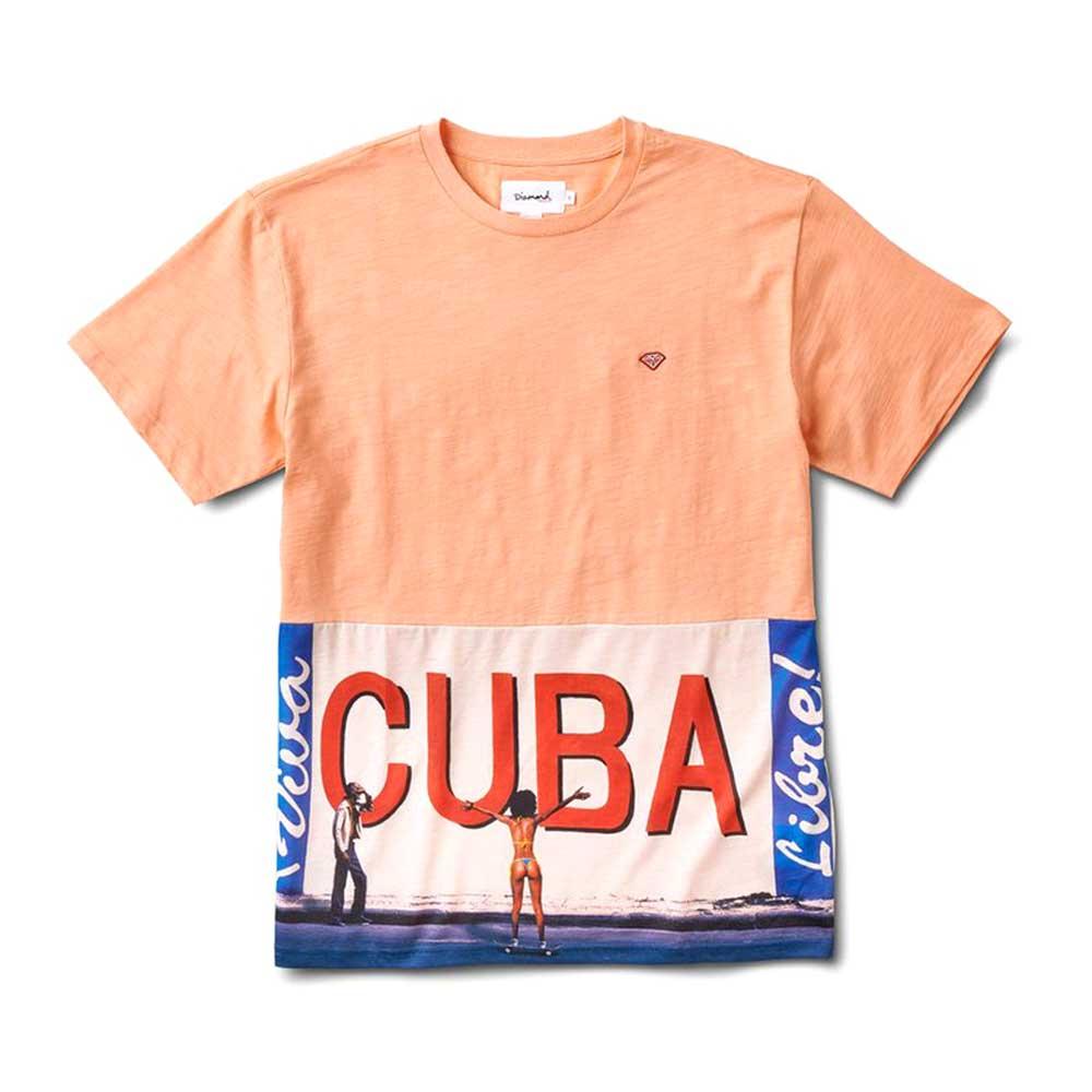 Diamond Supply Co Cuba T-shirt Coral
