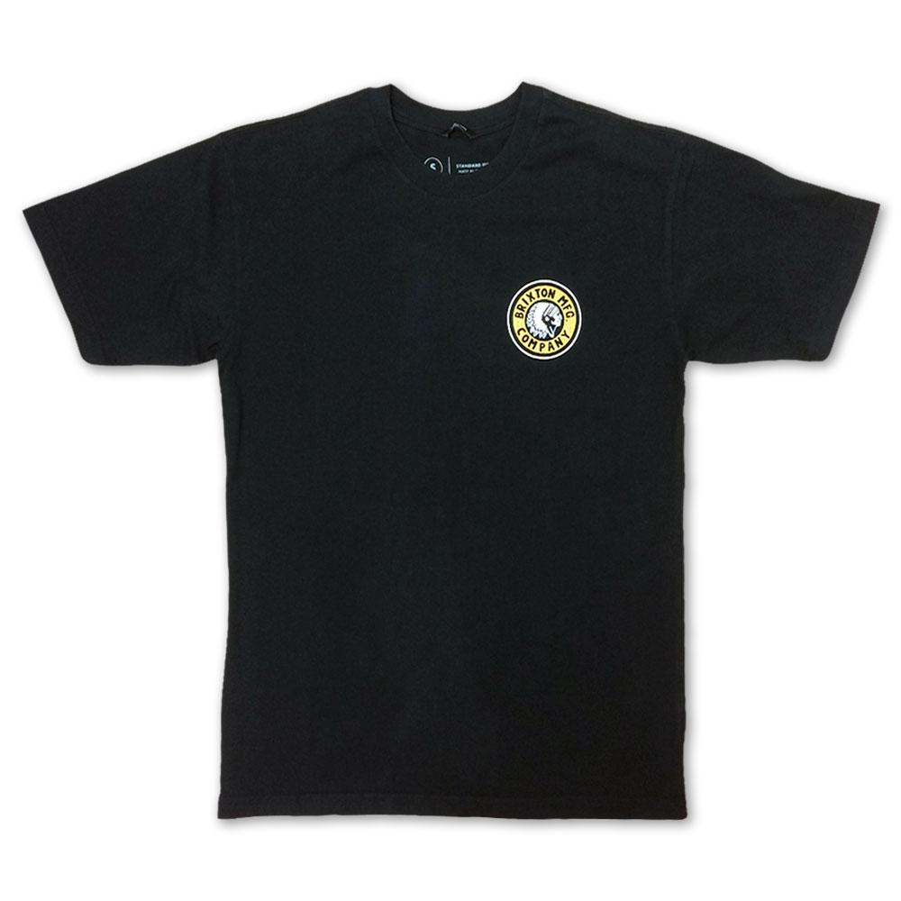 Brixton Rival II T-Shirt Black Yellow