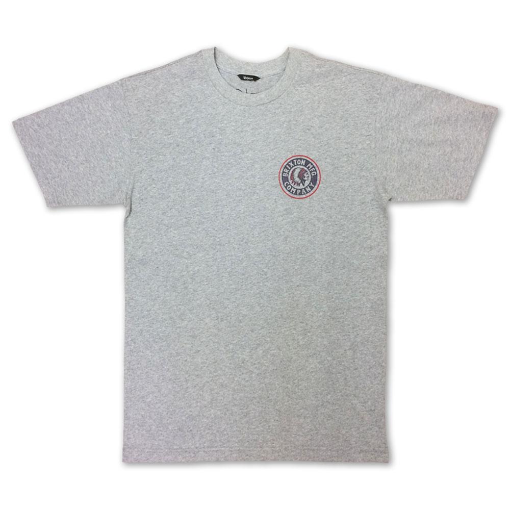 Brixton Rival II T-Shirt Heather Grey