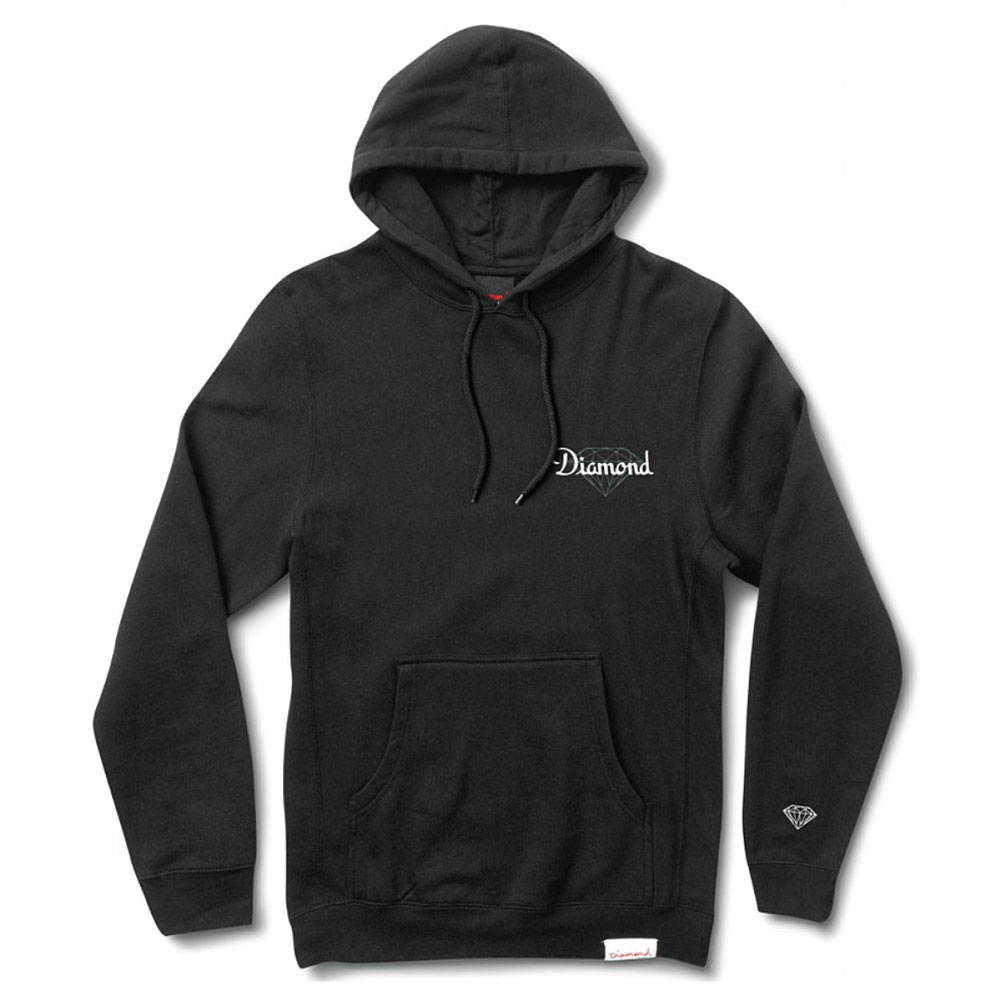 Diamond Supply Co Champagne Cut Pullover Hoodie Black