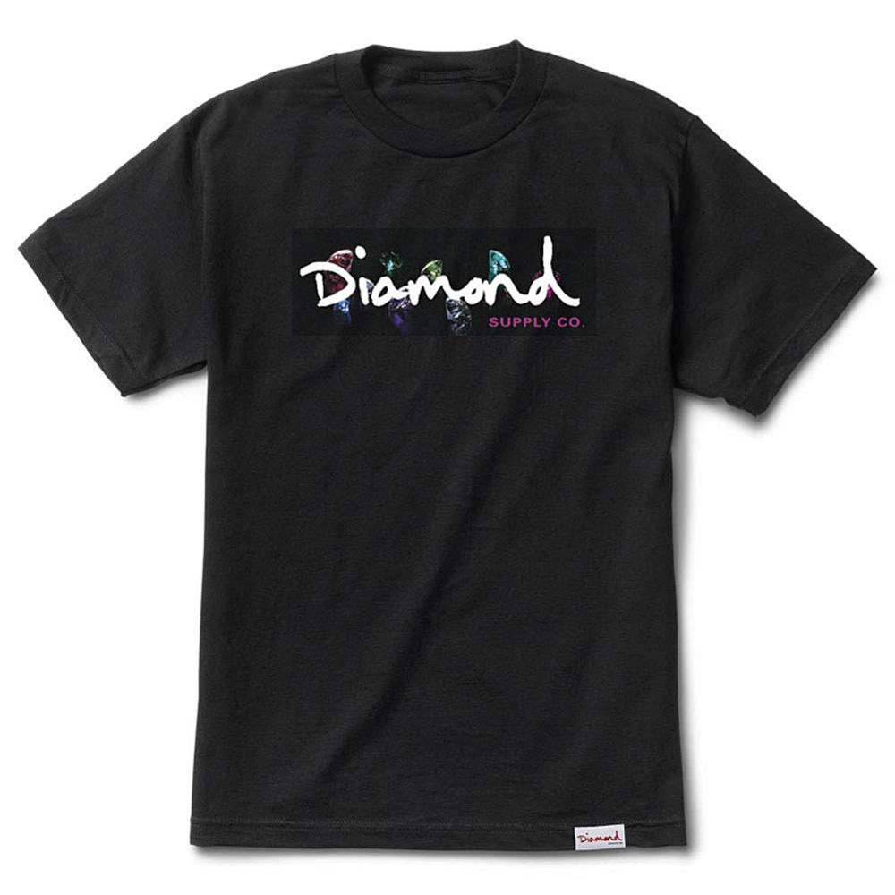 Diamond Supply Co Colour Box Logo Tee Black