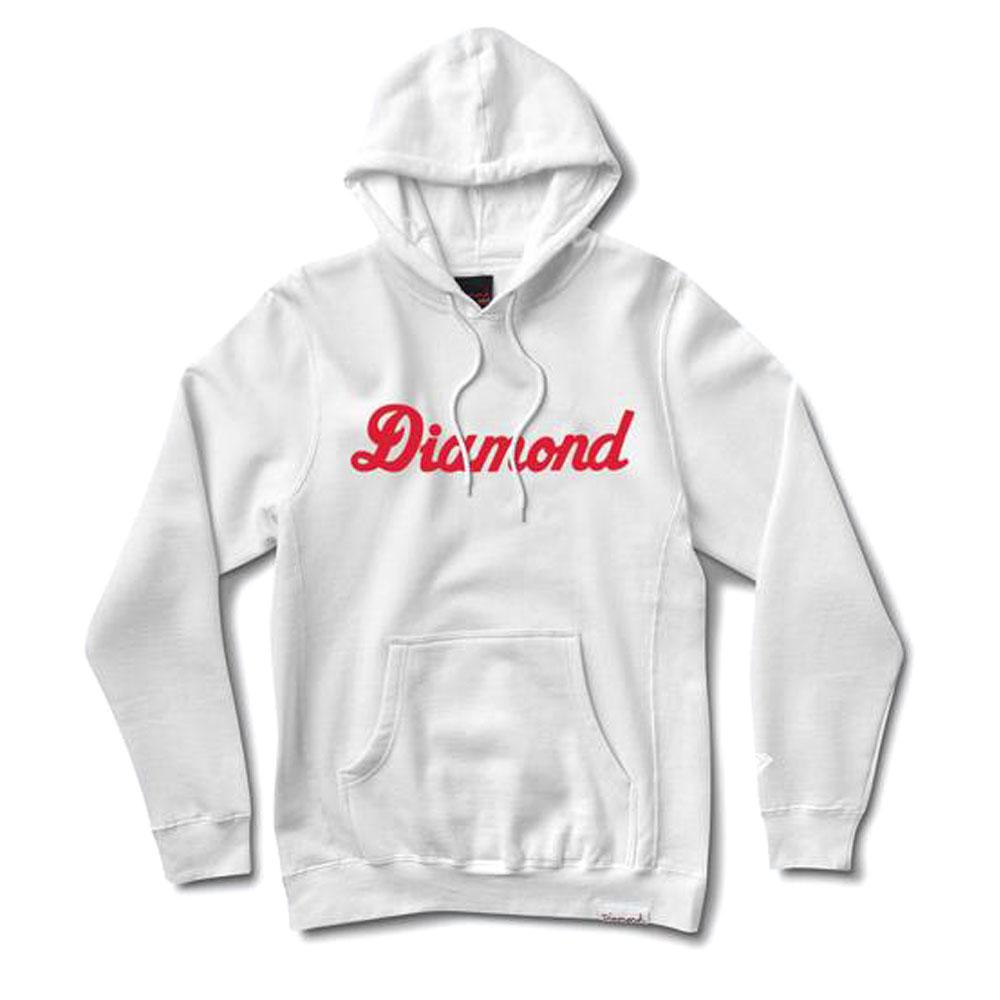Diamond Supply Co City Script Pullover Hoodie White