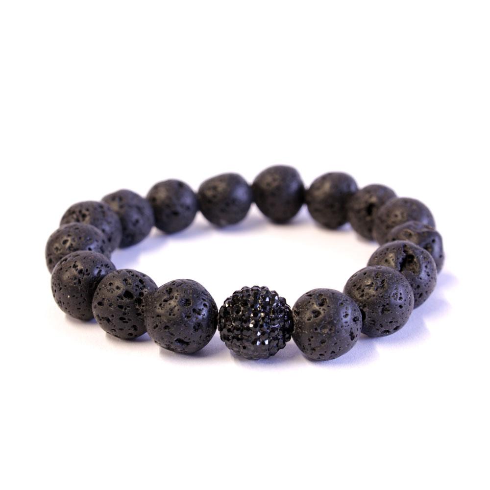 Lavastone & Crystal Bracelet 12mm beads