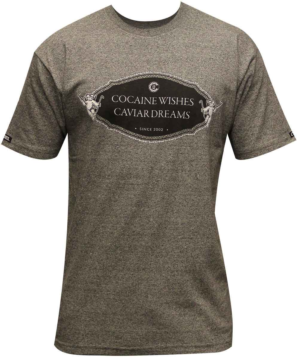 Crooks & Castles Rich And Shameless T-Shirt Speckle Black