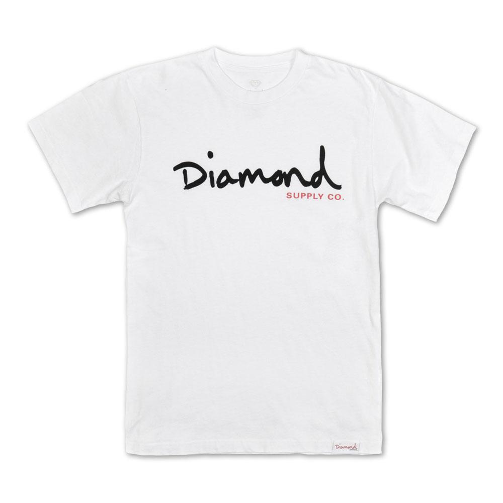 Diamond Supply Co OG Script Core T-shirt White