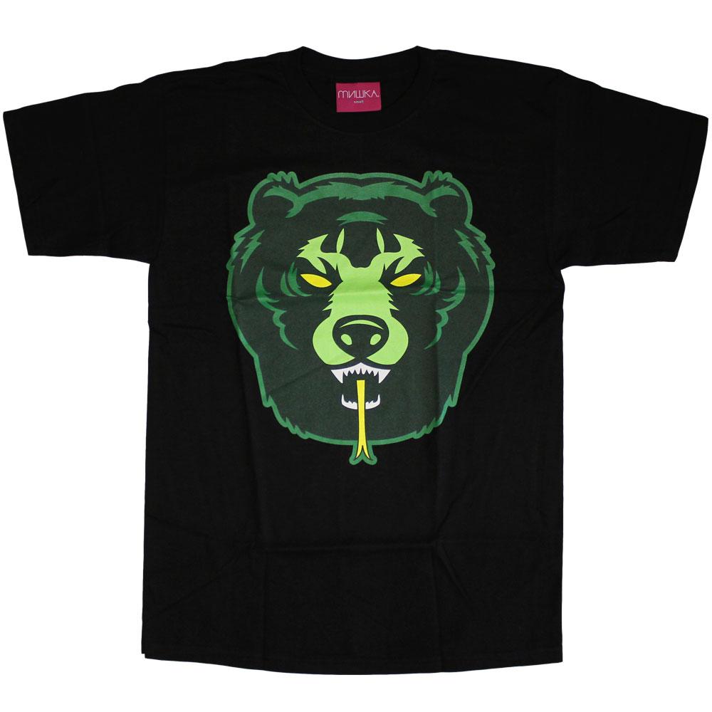 Mishka Death Adder T-Shirt Black Green Yellow