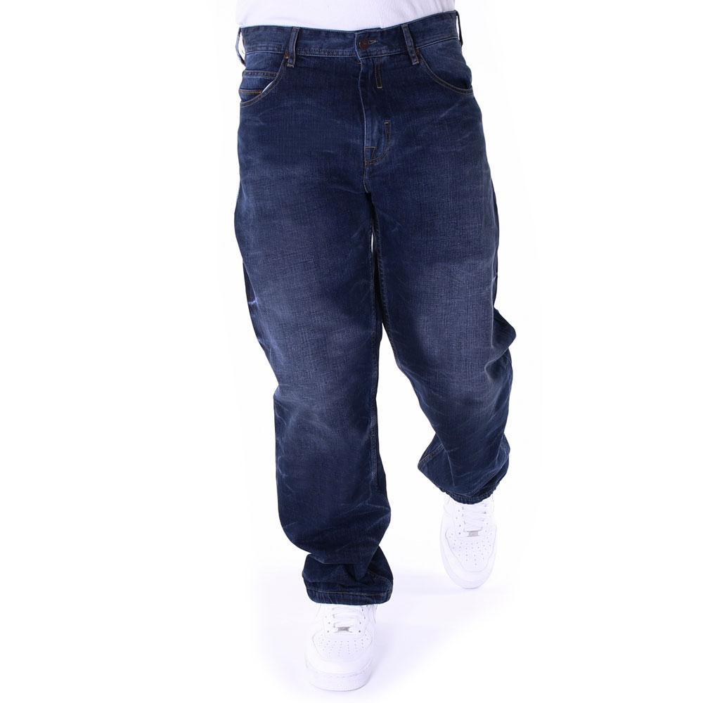 Pelle Pelle Baxter Baggy Denim Jeans Antique Blue