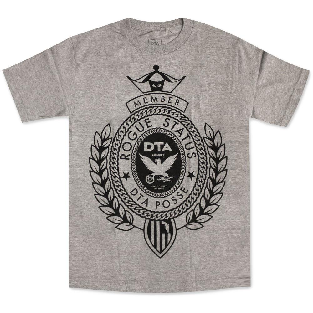 DTA RS Big Crest T-shirt Athletic Heather Black