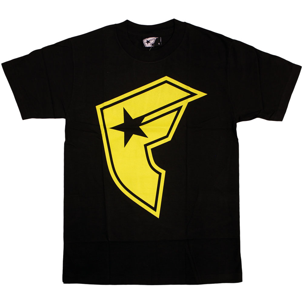 Famous Stars and Straps OG Boh T-shirt Black Yellow