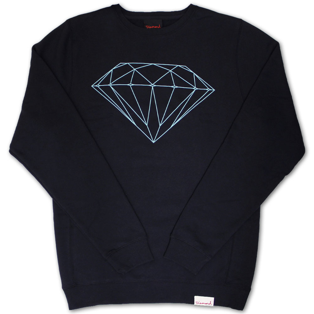 Diamond Supply Co Brilliant Crew Neck Sweatshirt Navy