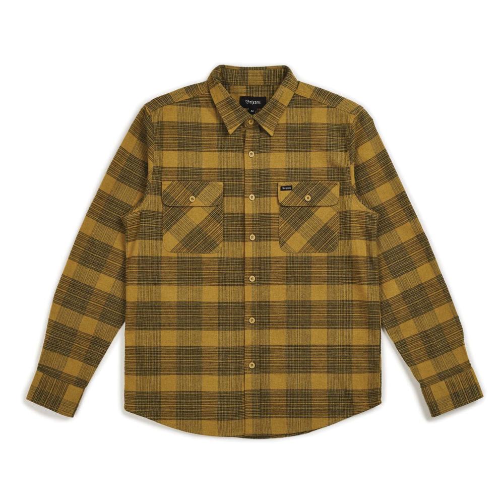 Brixton Bowery Flannel Long Sleeve Shirt Avocado