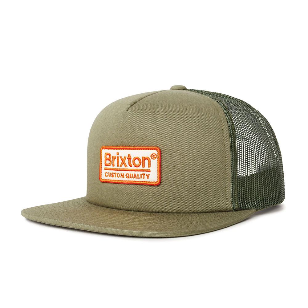 Brixton Palmer Mesh Snapback Cap Olive