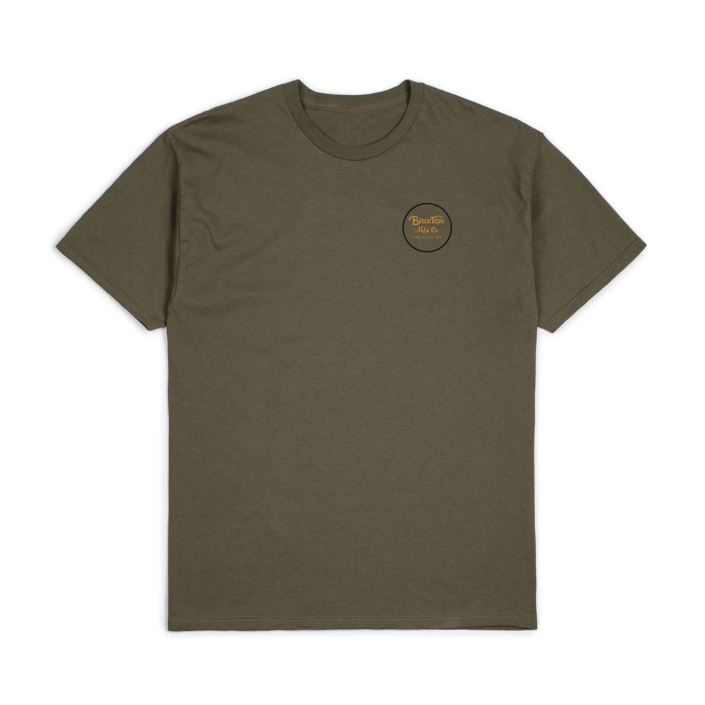 Brixton Wheeler II T-Shirt Olive Black