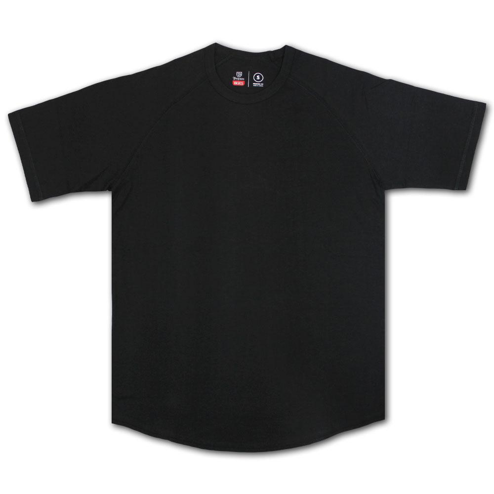 Brixton Basics Baseball T-Shirt Black