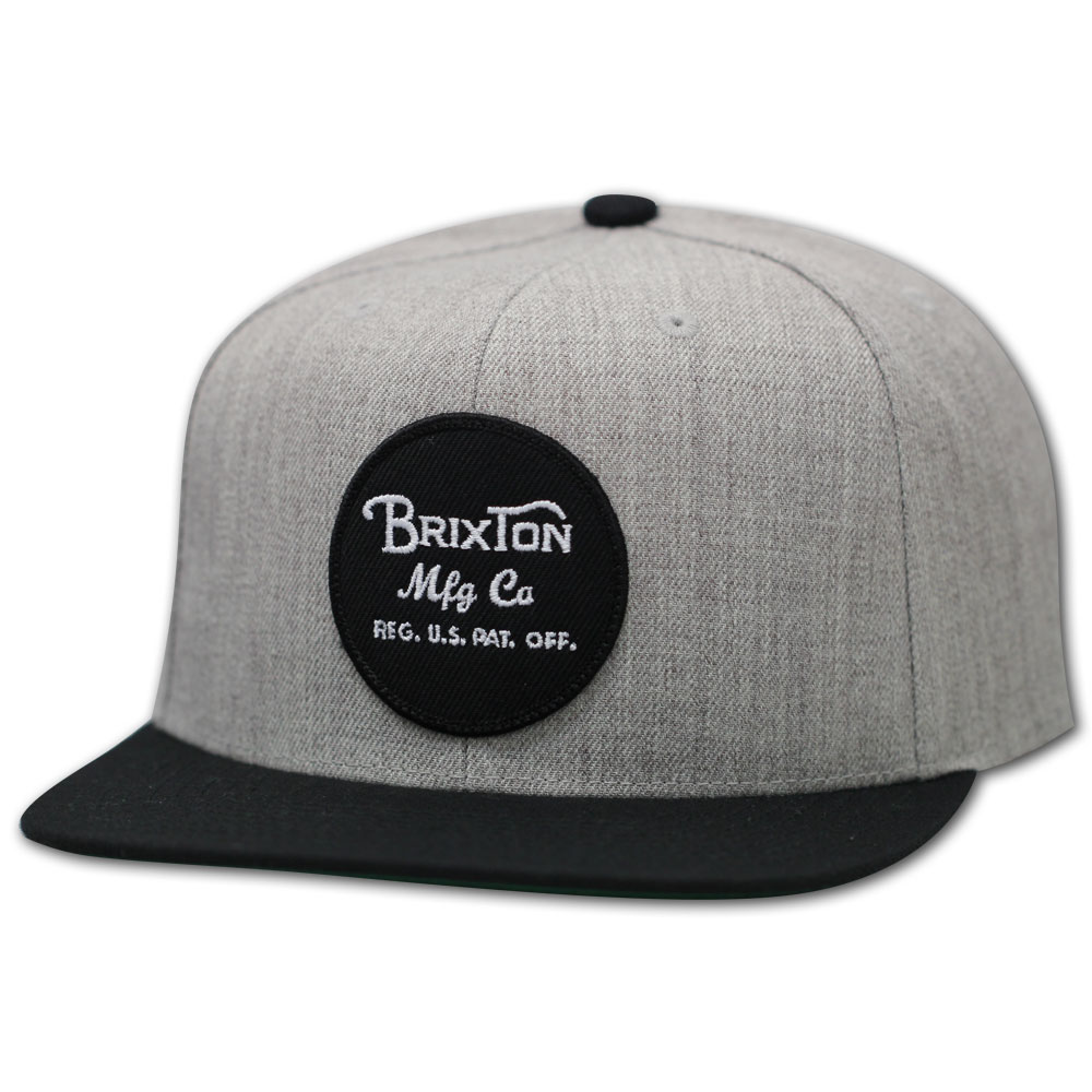 Brixton Wheeler Snapback Cap Grey Black