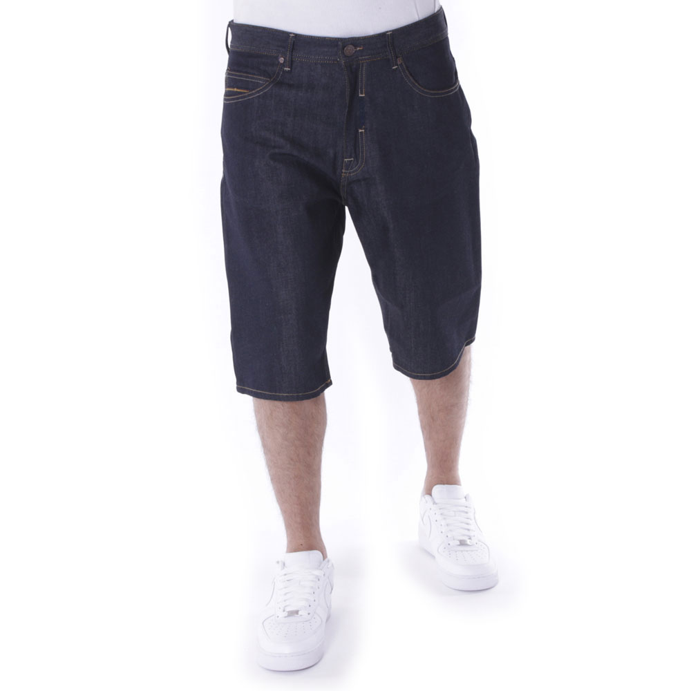 Pelle Pelle Buster Baggy Denim Shorts Raw Indigo