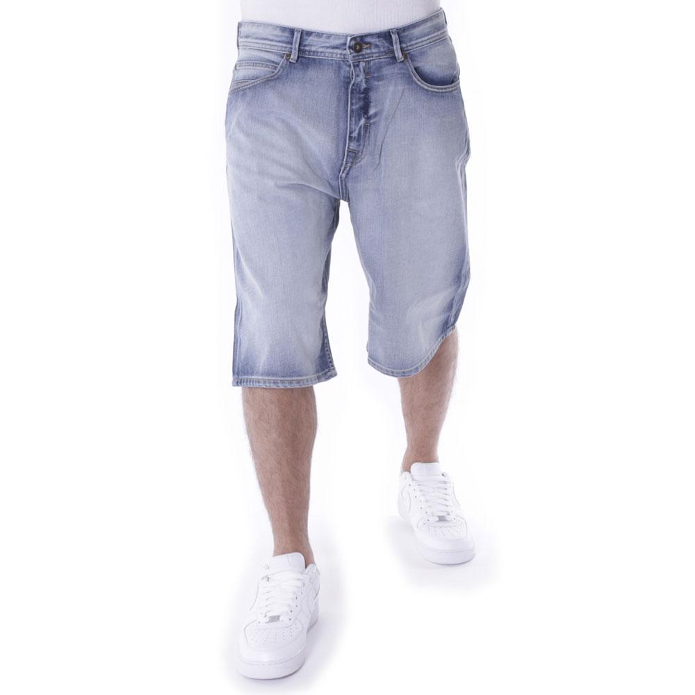 Pelle Pelle Buster Baggy Denim Shorts White Wash