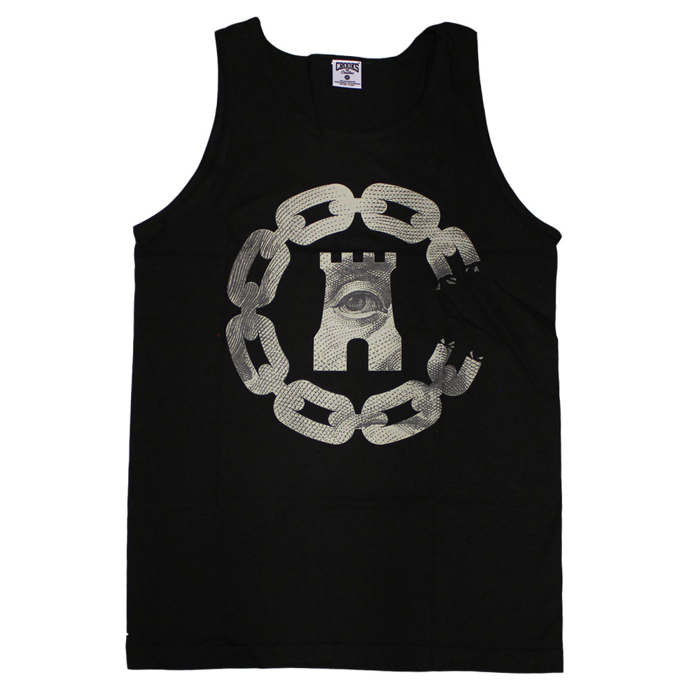 Crooks & Castles Currency Chain C Tank Top Black