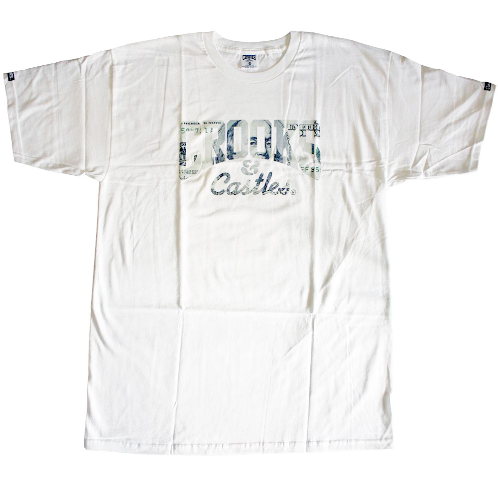 Crooks & Castles Currency Core T-shirt White