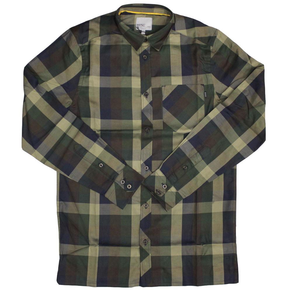 WeSC Darcy Long Sleeve Shirt Dark Chocolate