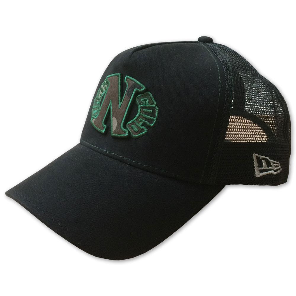 Dark n Cold Camo Egg Logo Adjustable Trucker Snapback Cap Black