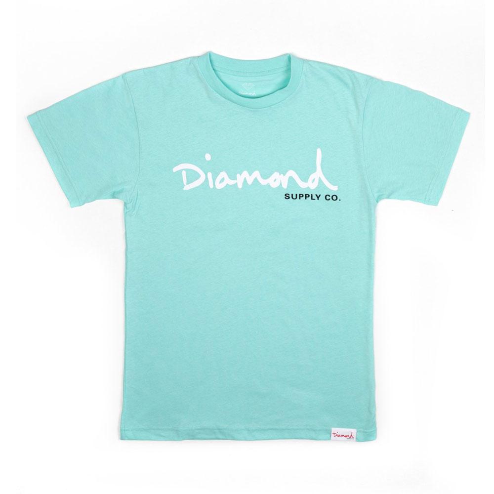 Diamond Supply Co OG Script Core T-shirt Diamond Blue